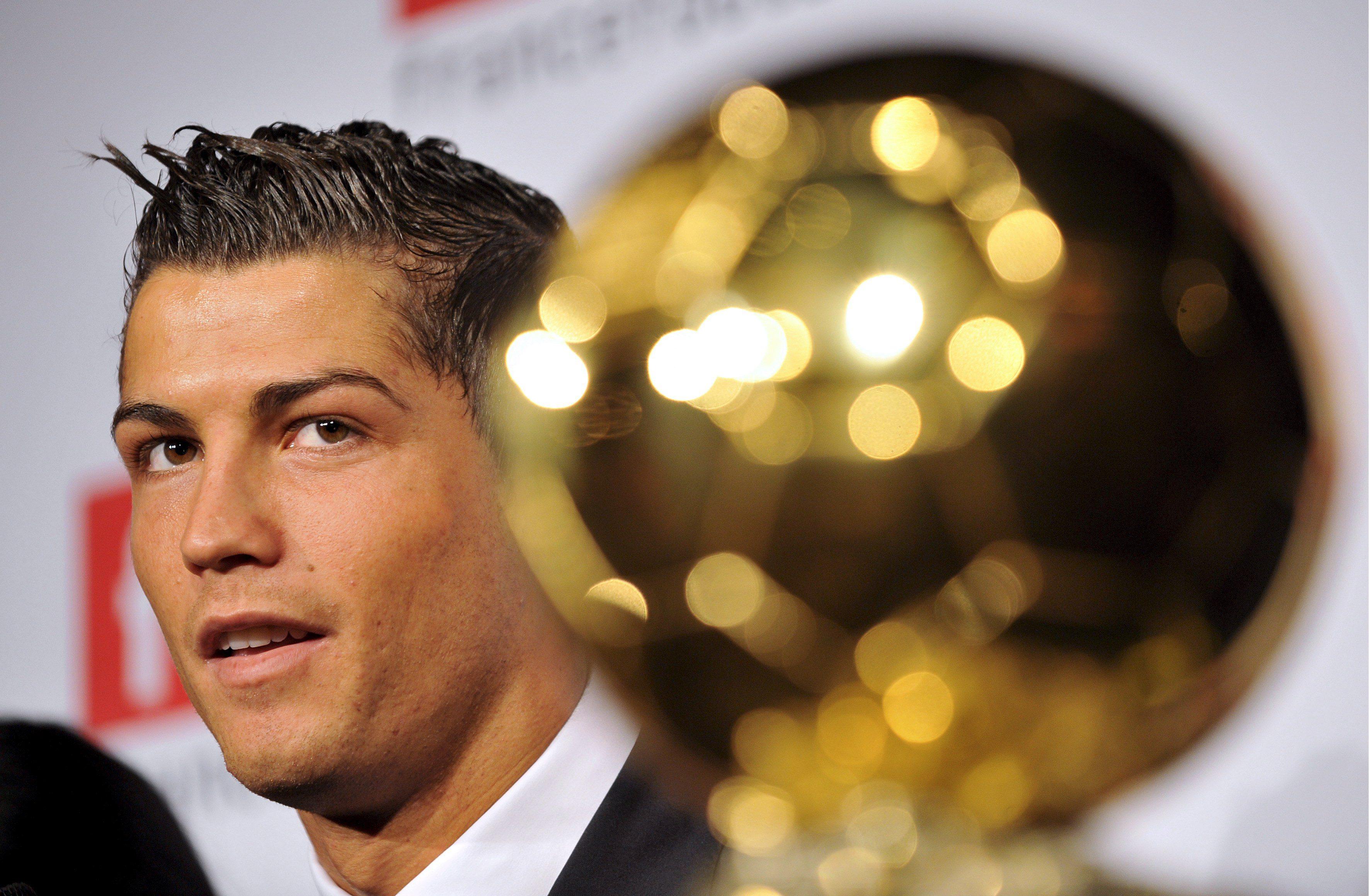 Cristiano Ronaldo, fresco vincitore del suo terzo Pallone d'Oro