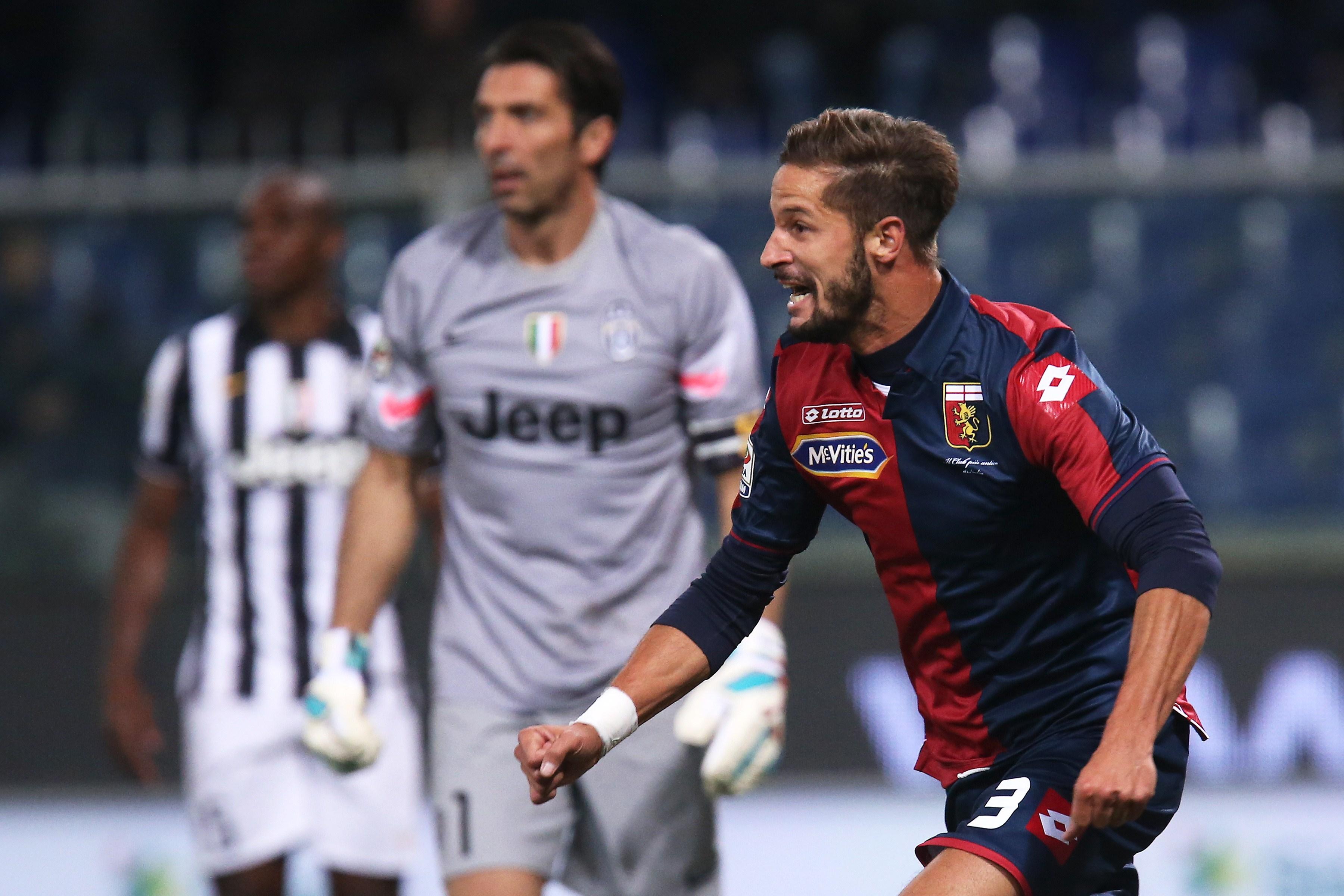 Antonini festeggia il gol contro la Juventus