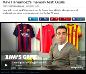 Xavi memory test
