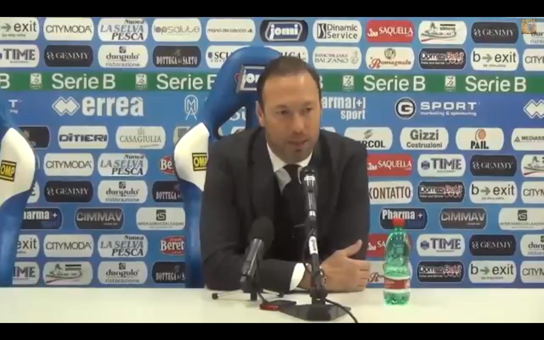 Il tecnico del Catania Marcolin preoccupato della classifica dei suoi