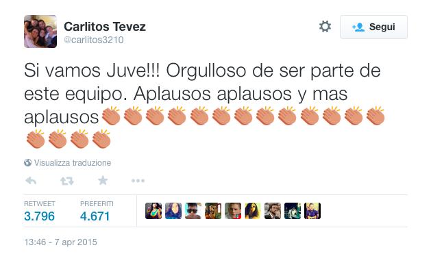 Tweet Tevez
