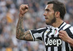 Tevez top player della Juventus in Champions League