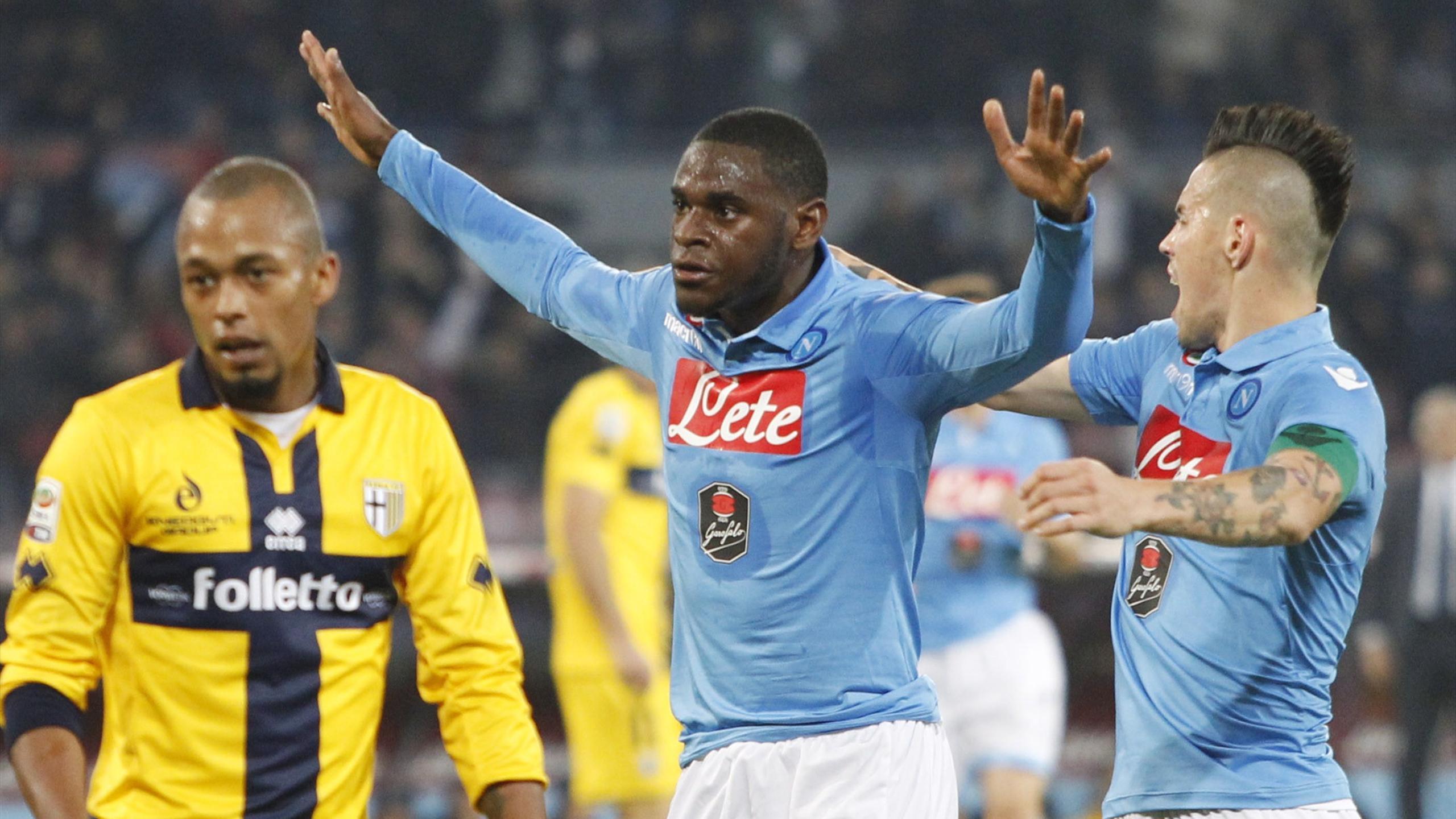 Zapata guiderà l'attacco del Napoli a Parma