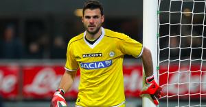 Orestīs Karnezīs (31 anni) portiere dell'Udinese