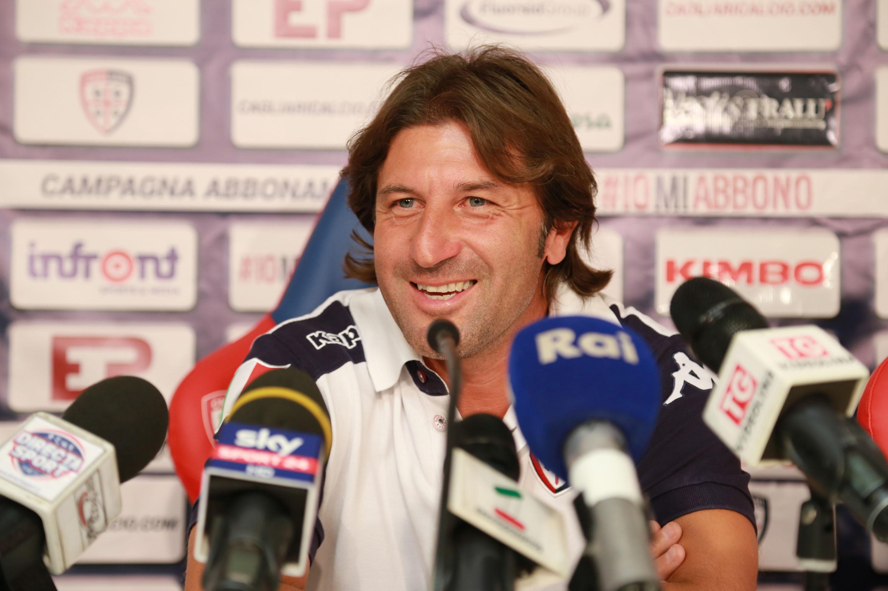 Cagliari, conferenza stampa di Massimo Rastelli