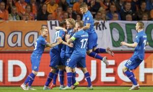 I calciatori della nazionale islandese