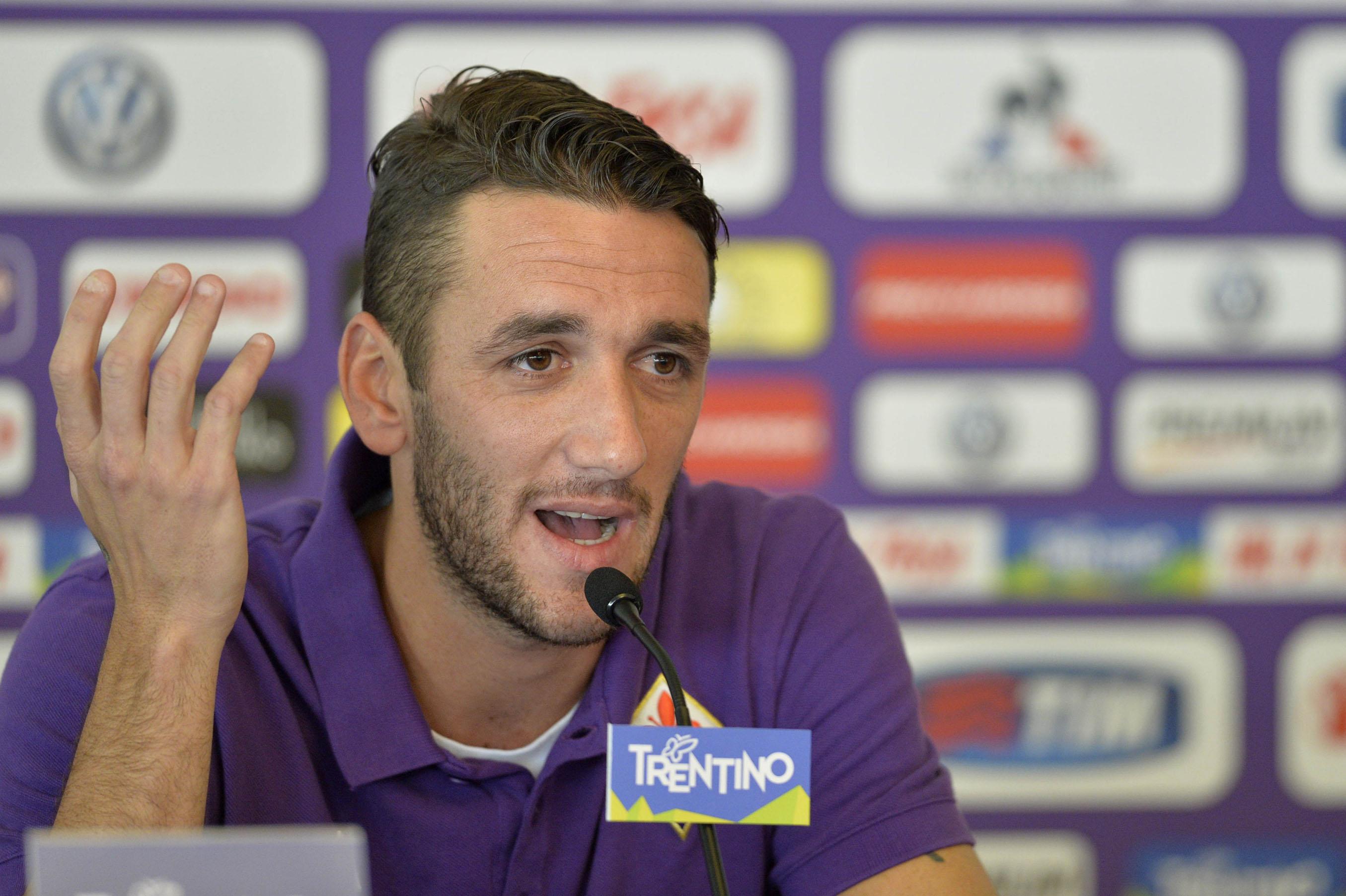 Ritiro Estivo A.C. Fiorentina - Gonzalo Rodriguez in conferenza stampa