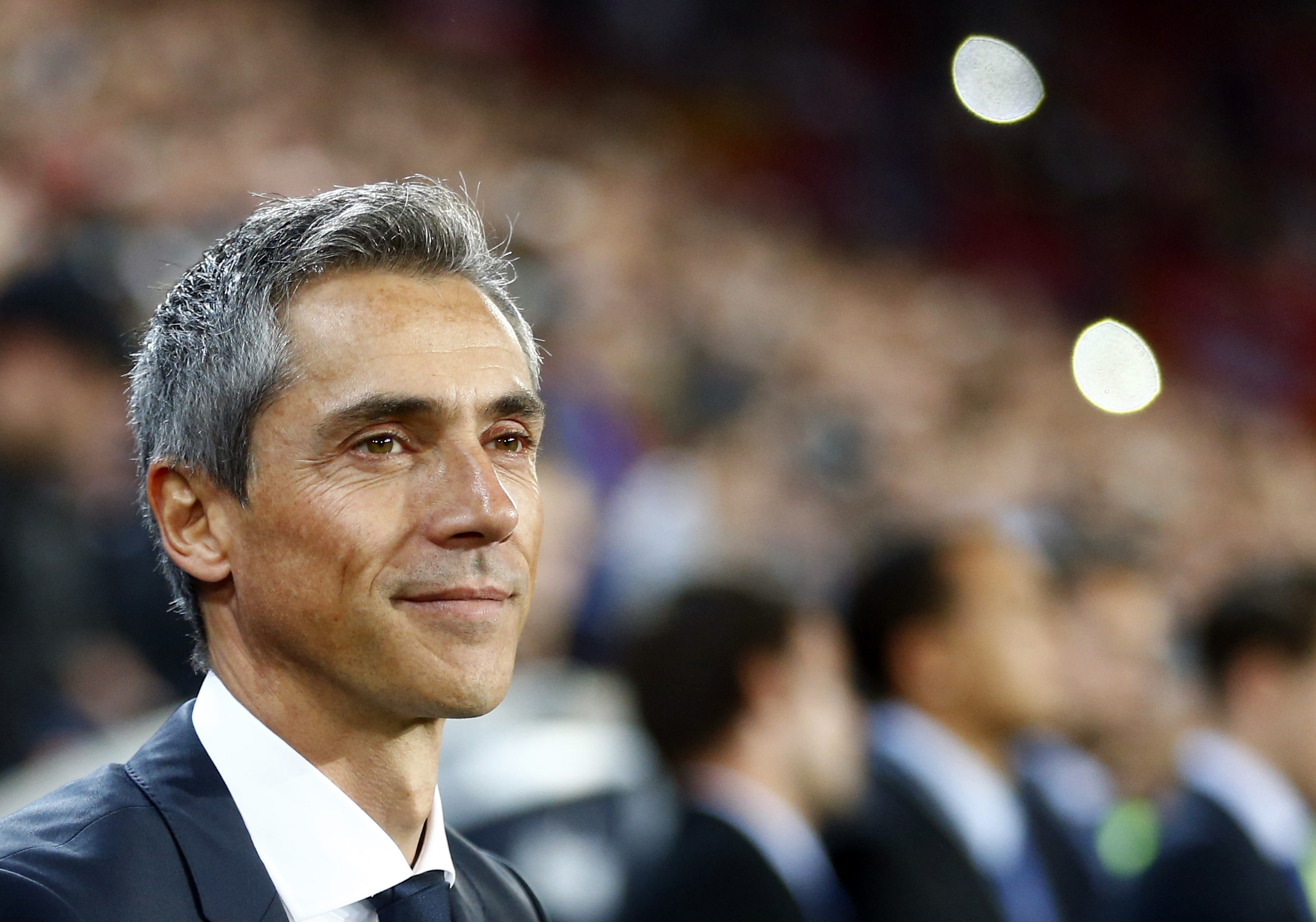 FC Basel's coach Paulo Sousa pauses before their Champions League Group B soccer match against Liverpool in Basel
