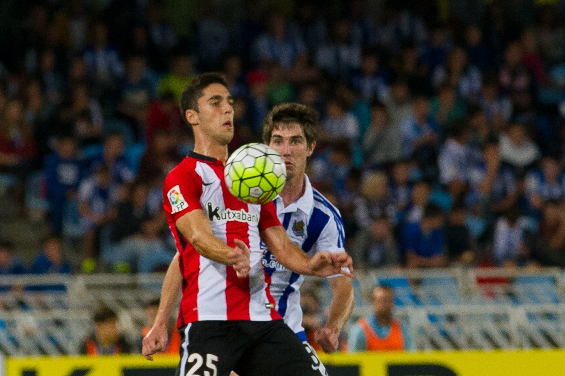 Spanish league football match between Real Sociedad and Athletic Club