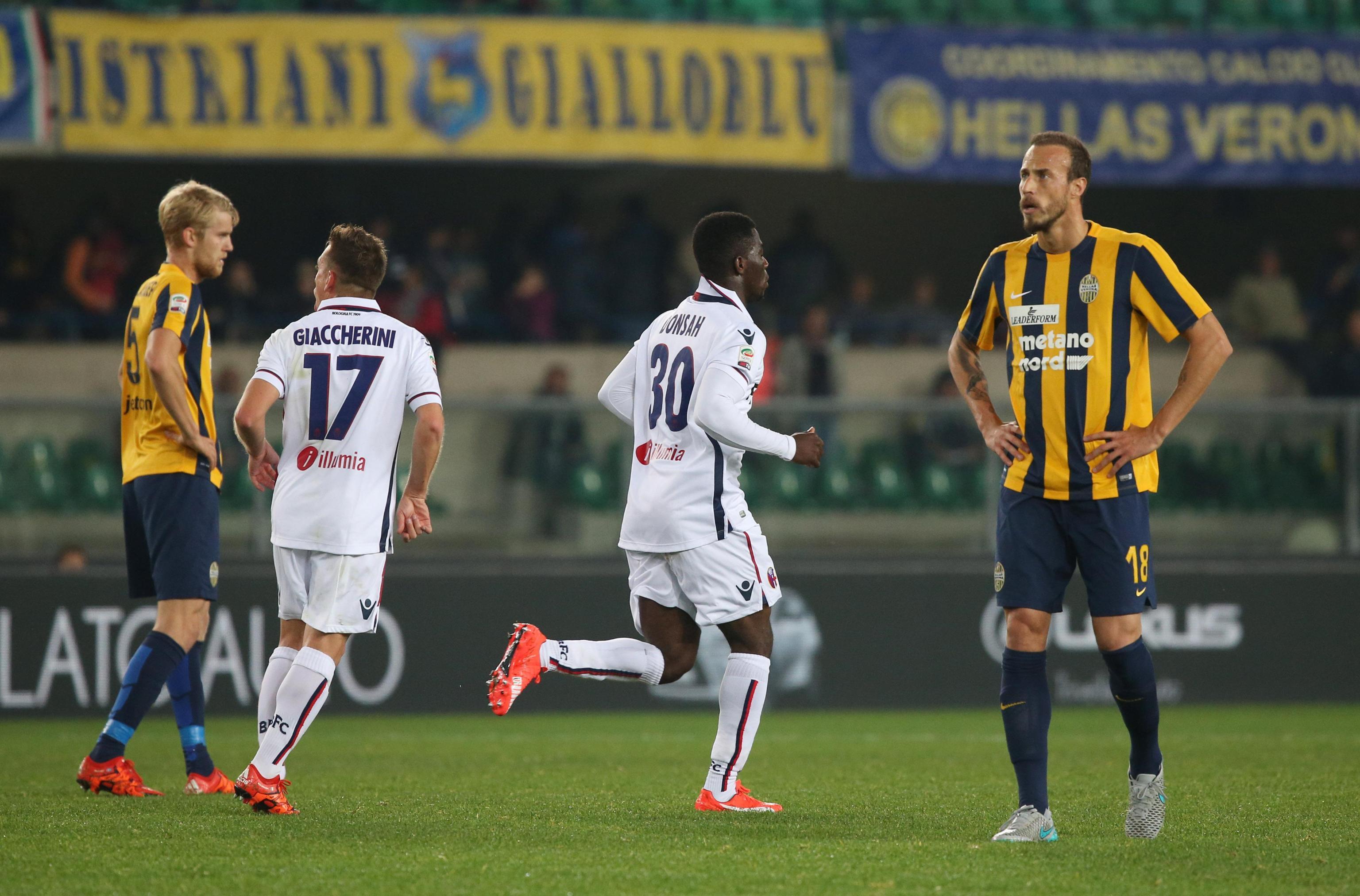 Soccer: serie A, Hellas Verona-Bologna