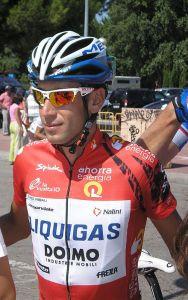 Vincenzo Nibali in maglia Rossa, vincitore delle Vuelta 2010