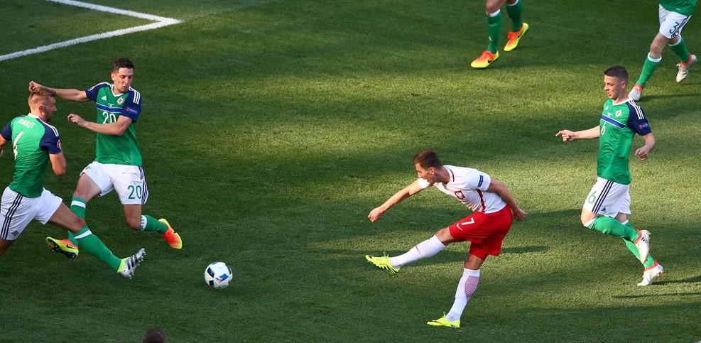 Milik goal Polonia-Irlanda del Nord