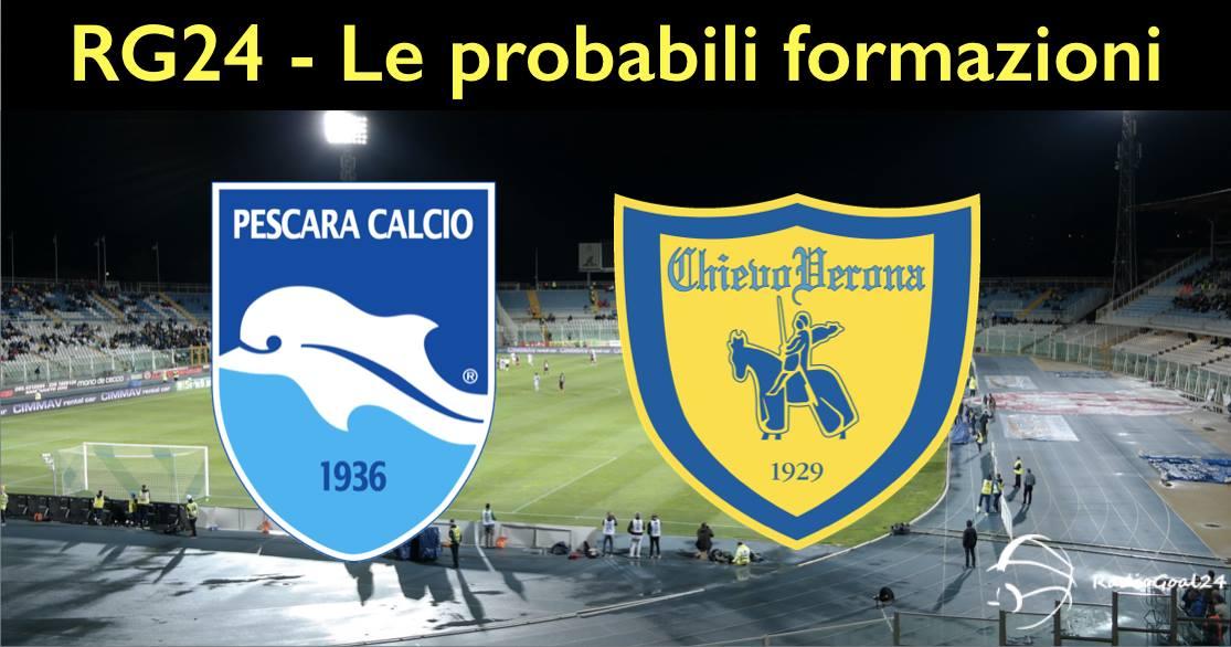 Pescara - Chievo, le probabili formazioni