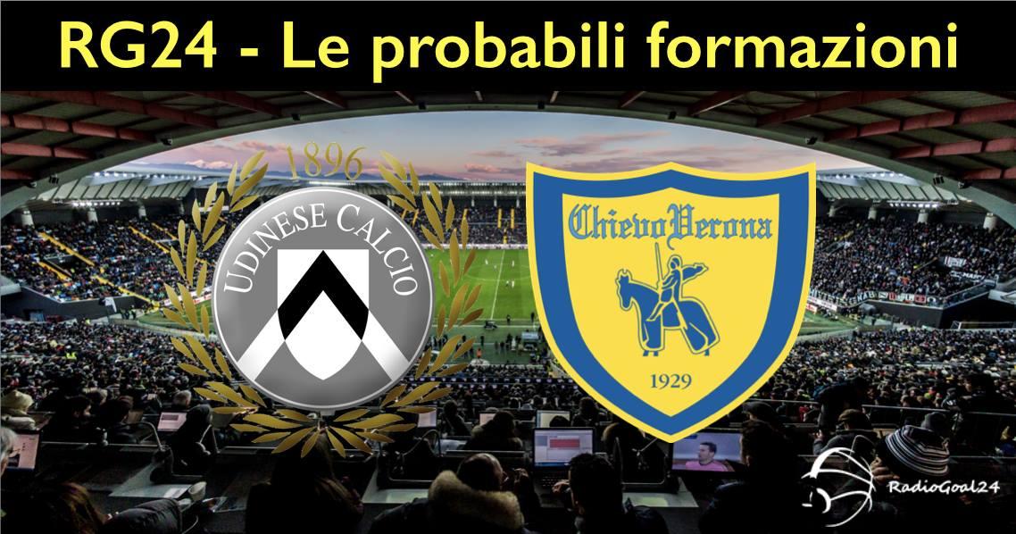 Le probabili formazioni di Udinese-Chievo - Problemi per Widmer