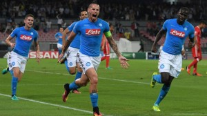 Soccer: Champions League; Napoli-Benfica