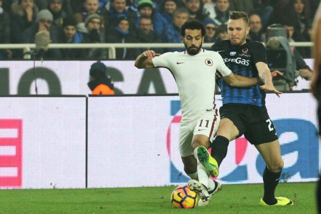Mohamed Salah è a rischio per il derby di Roma