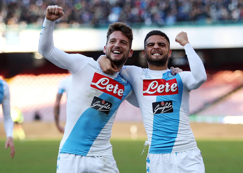 Roma-Napoli 1-2: una doppietta di Mertens consolida il 3° posto