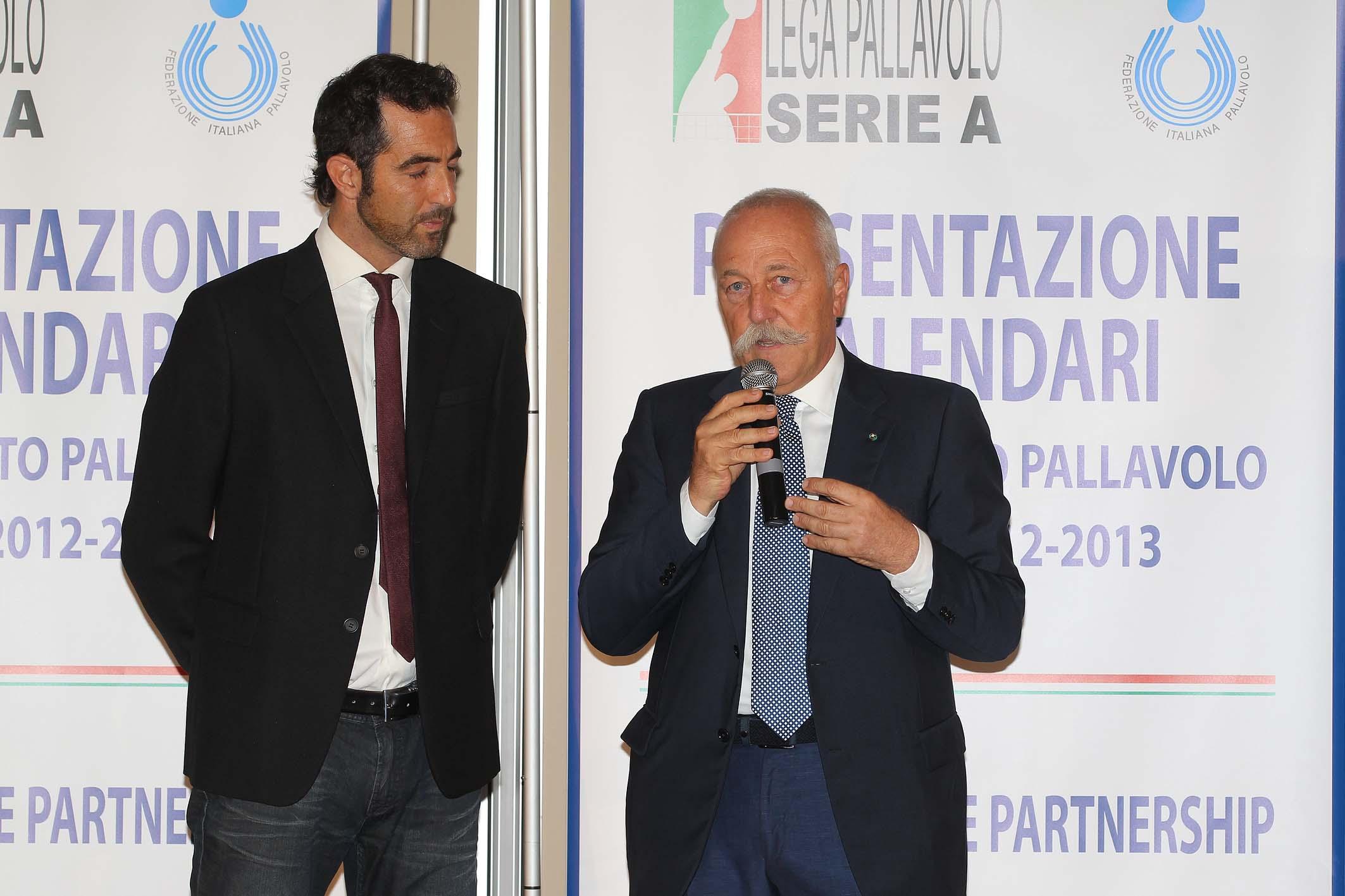 BOLOGNA 19/07/2012. LEGAVOLLEY, PRESENTAZIONE DI CALENDARI.