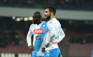 Koulibaly (25) e Albiol (31), i difensori centrali del Napoli.