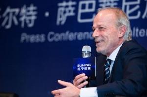 Walter Sabatini, neo coordinatore dell'area tecnica per il gruppo Suning Sports: a lui il compito di far tornare grande l'Inter.