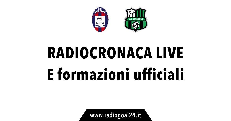 Serie A: Crotone favorito a 2,12 con il Sassuolo su Scommettendo