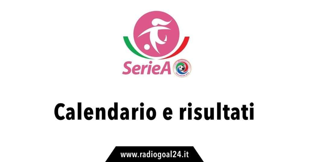 Calendario e risultati Serie A femminile
