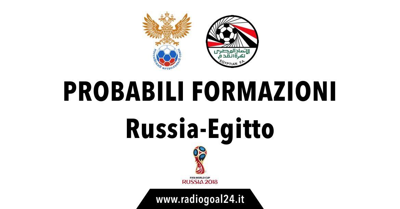 Russia-Egitto probabili formazioni