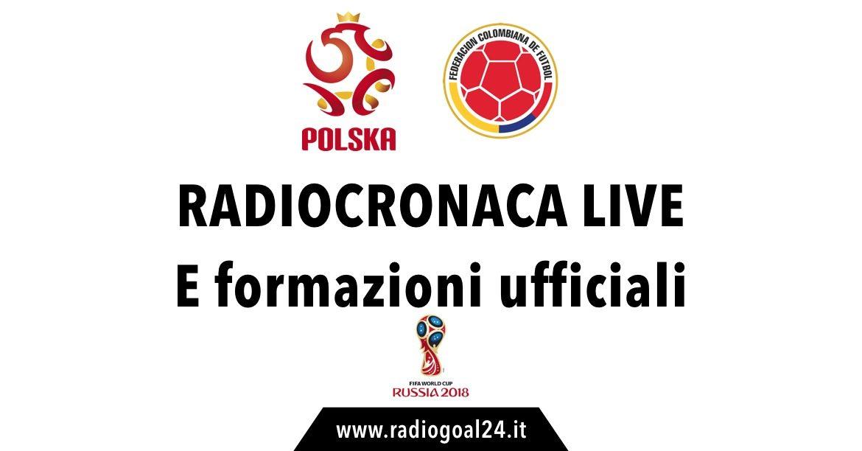 Polonia-Colombia formazioni ufficiali