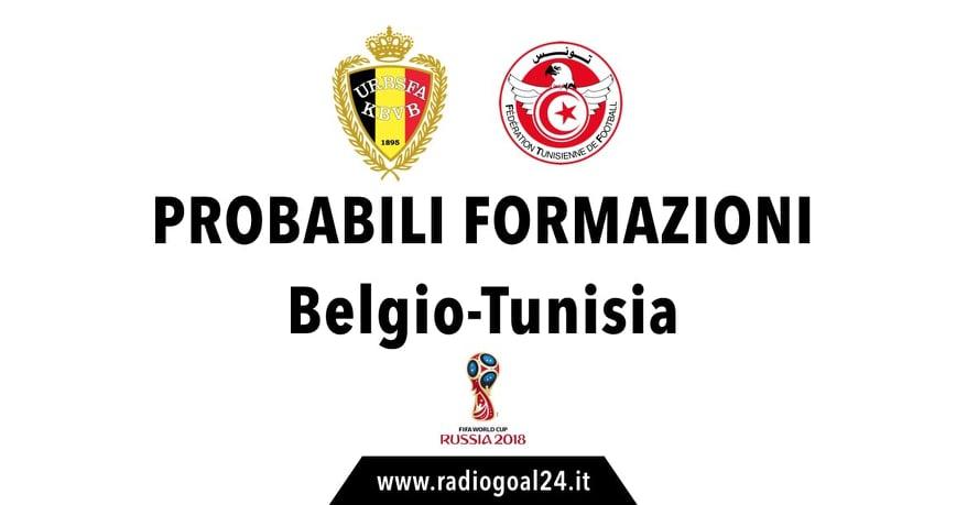 Belgio-Tunisia probabili formazioni