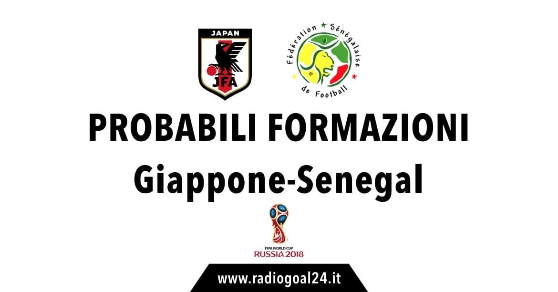 Giappone-Senegal probabili formazioni
