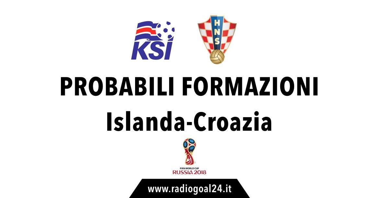 Islanda-Croazia probabili formazioni