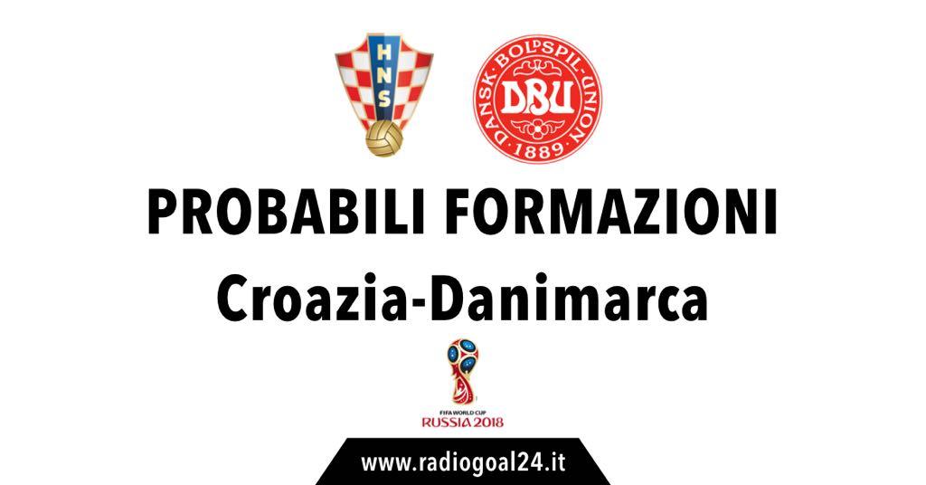 Croazia-Danimarca probabili formazioni