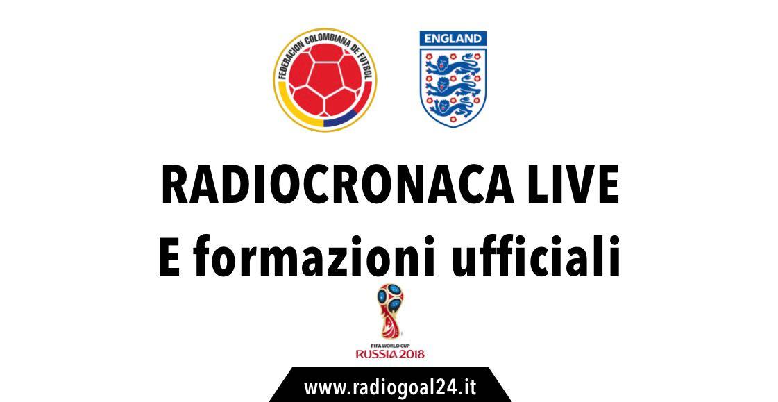 Colombia-Inghilterra formazioni ufficiali