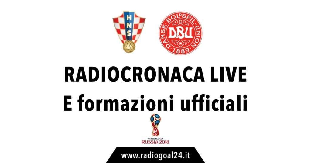 Croazia-Danimarca formazioni ufficiali