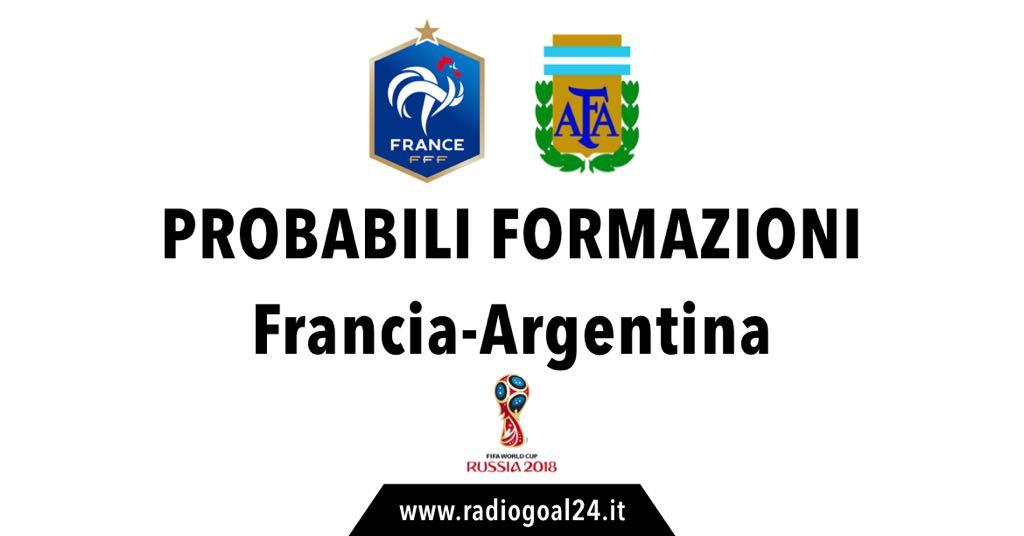 Francia-Argentina probabili formazioni
