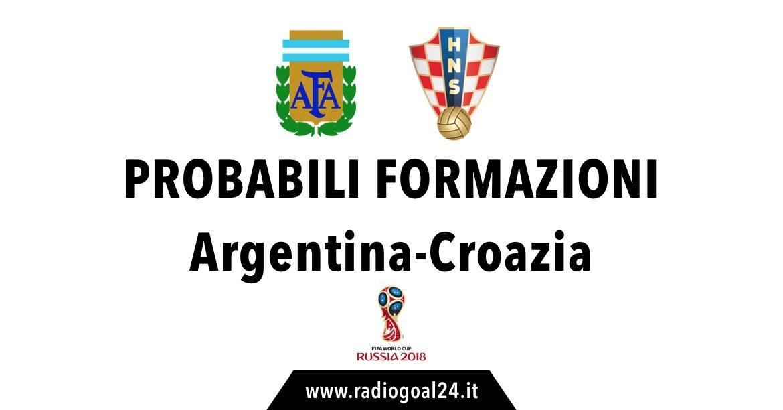 Argentina-Croazia probabili formazioni