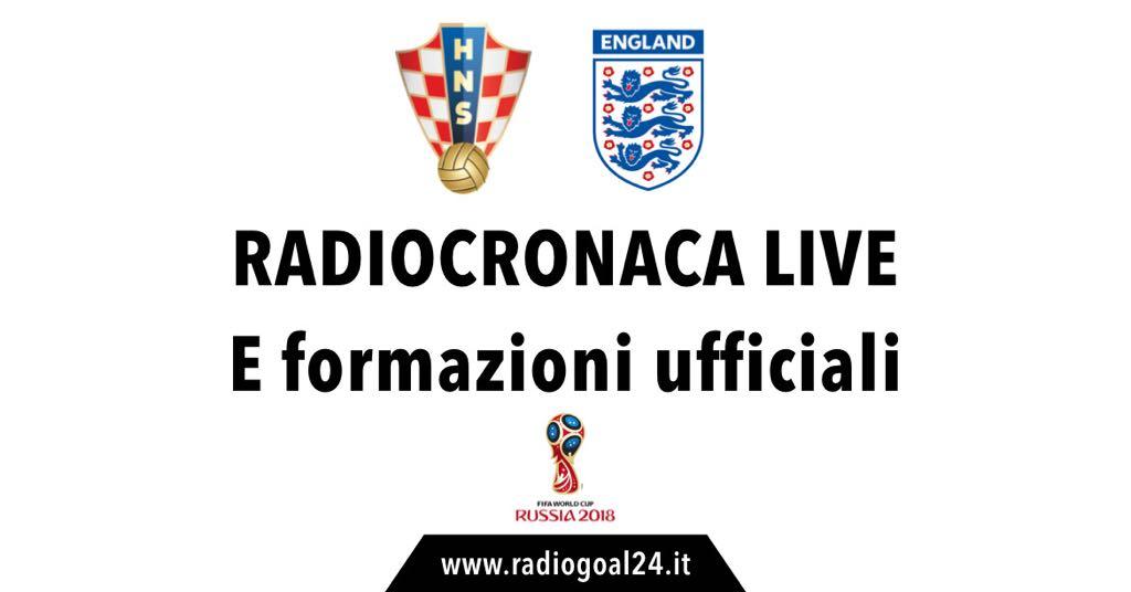Croazia-Inghilterra formazioni ufficiali