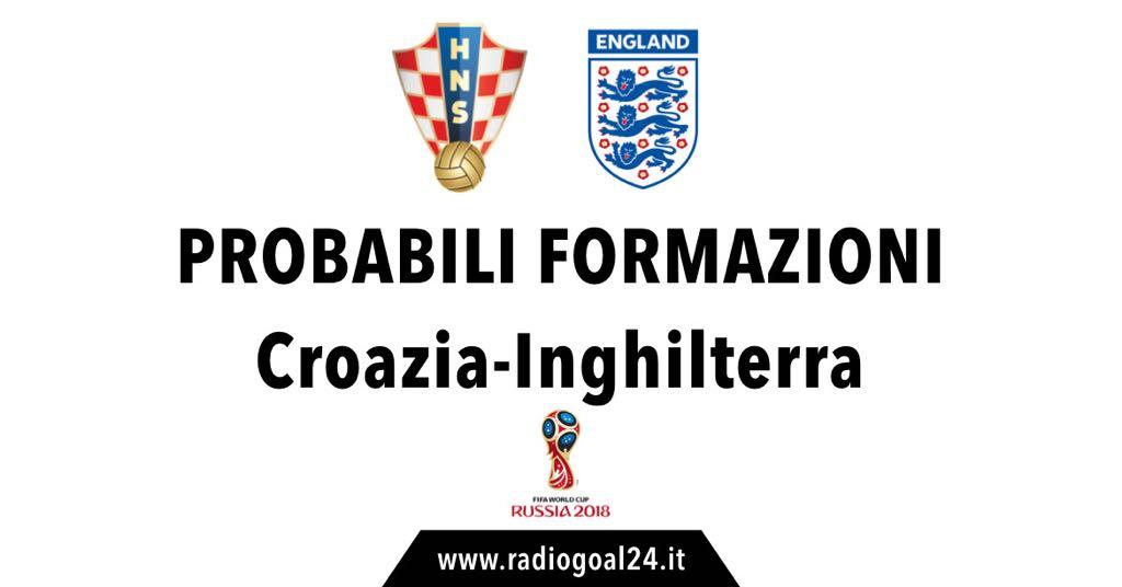 Croazia-Inghilterra probabili formazioni