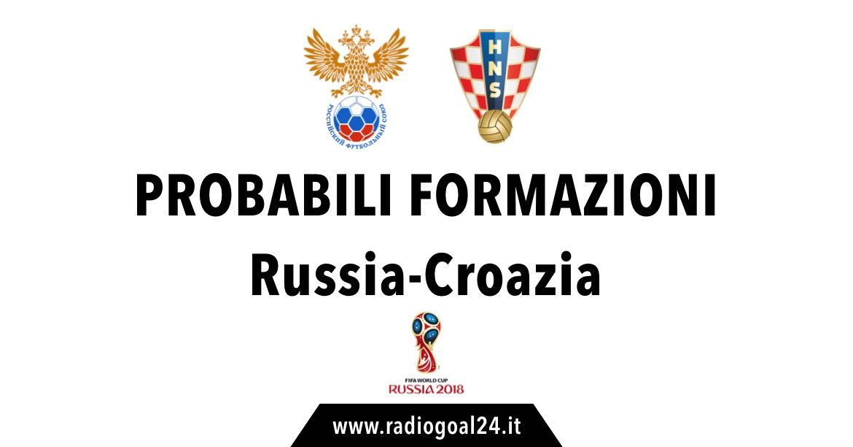 Russia-Croazia probabili formazioni