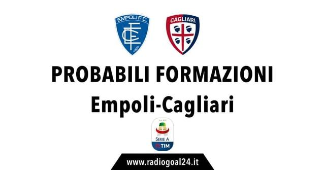 Empoli-Cagliari probabili formazioni