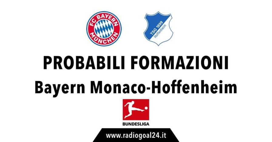 Bayern Monaco-Hoffenheim probabili formazioni