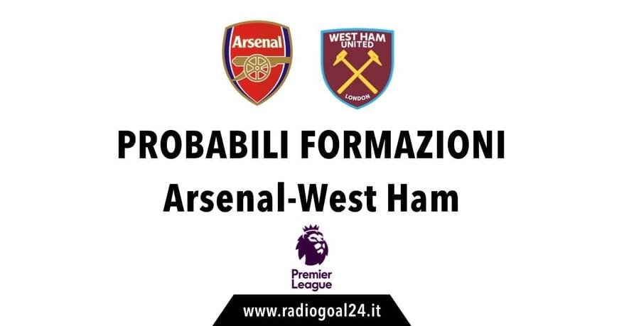 Arsenal-West Ham probabili formazioni