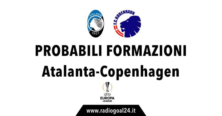 Atalanta-Copenhagen probabili formazioni