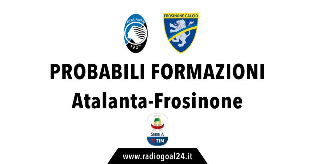Atalanta-Frosinone probabili formazioni