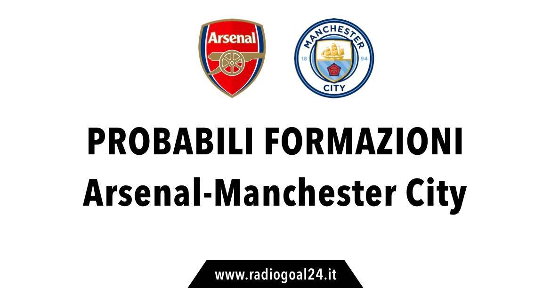 Asenal-Manchester City probabili formazioni