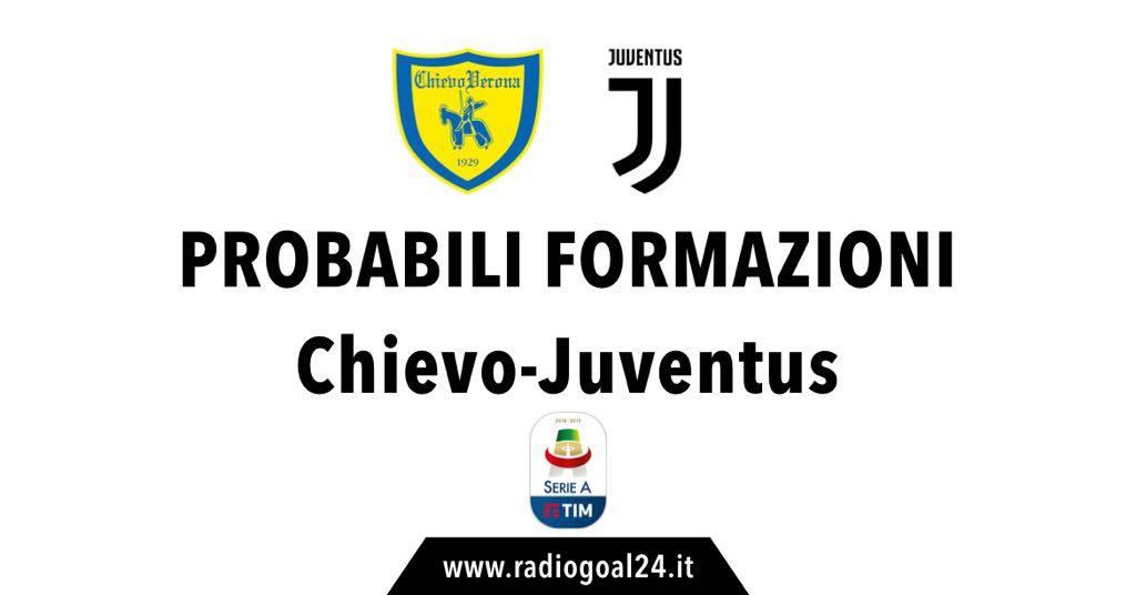 Chievo-Juventus probabili formazioni