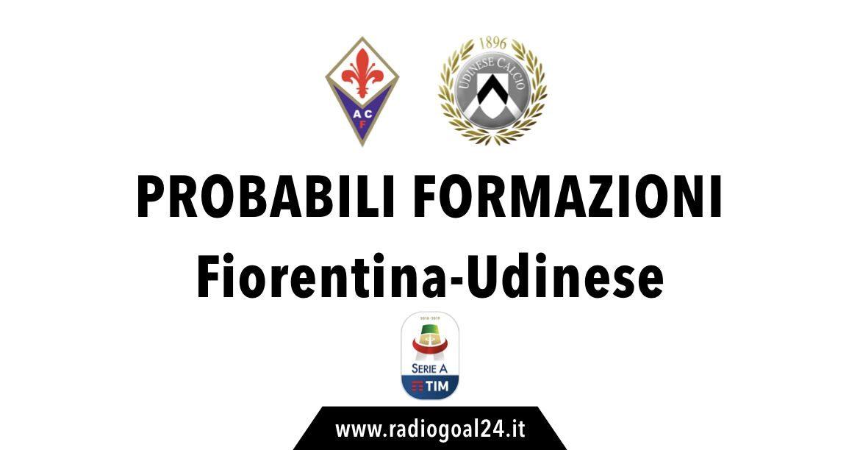 Fiorentina-Udinese probabili formazioni