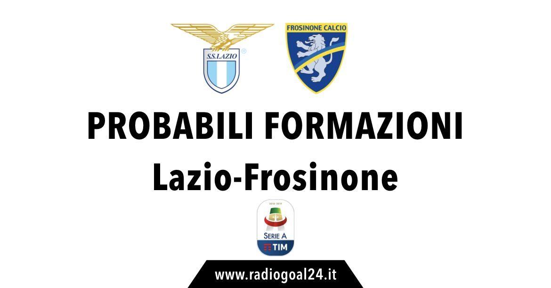 Lazio-Frosinone probabili formazioni