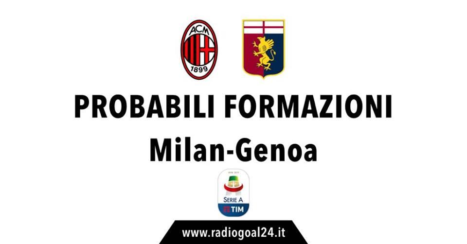 Milan-Genoa probabili formazioni