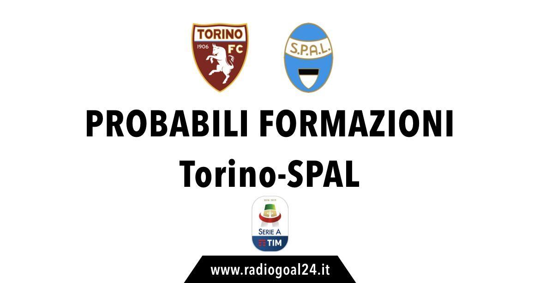 Torino-SPAL probabili formazioni